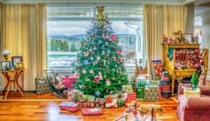 Merry Christmas 2020 image of a traditional Christmas tree